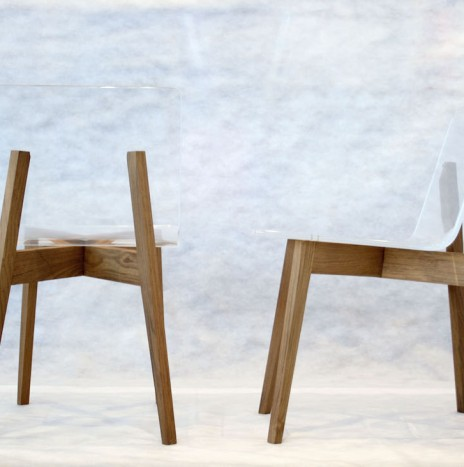 1974 Chair – Crystal Clear (Rubber wood)