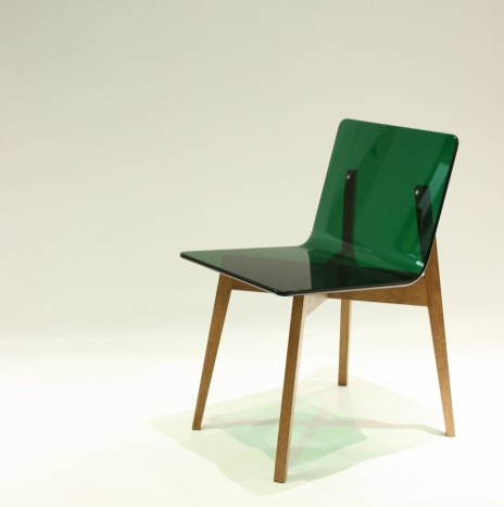1974 Chair – Green (Rubber Wood)