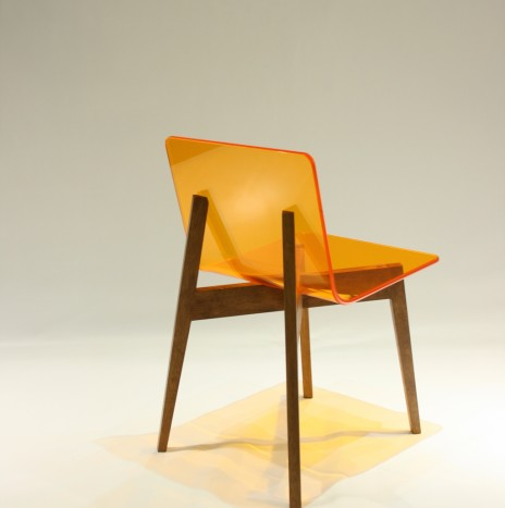 1974 Chair – Orange (Rubber Wood)