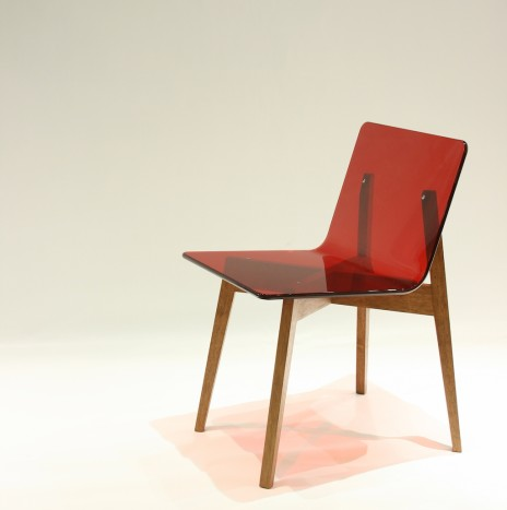 1974 Chair – Red (Rubber Wood)