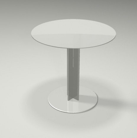 Real Round Side Table