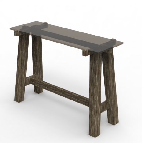 The Carpenter's Bar Table – Glass (Tint Black)
