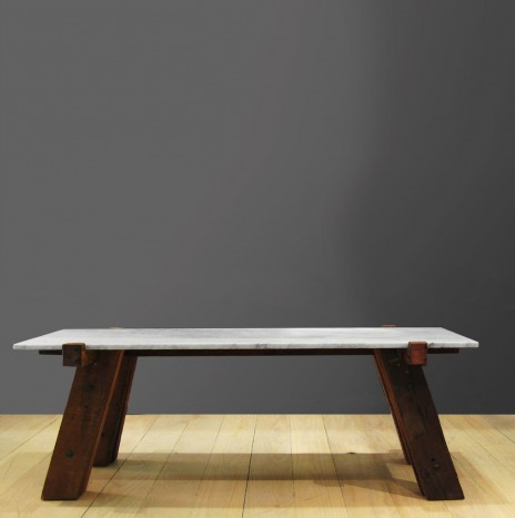The Small Carpenter's Table – Marble (Black / White)