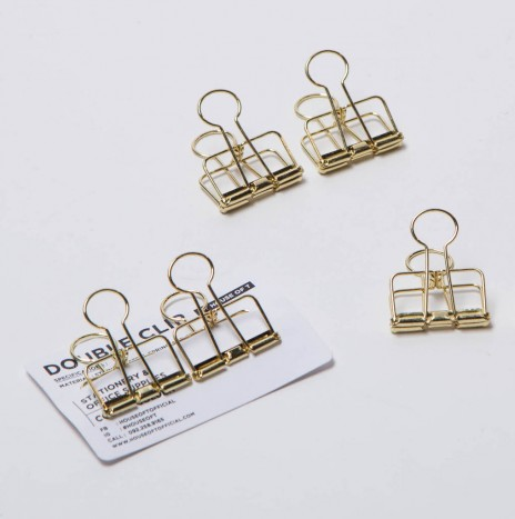 DOUBLE CLIP   GOLD 32 MM. (2 PCS)