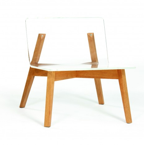 1974 Lounge Chair – Crystal Clear (Rubber Wood)